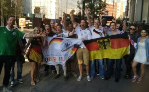 Before the game outside the Bavarian Beerhouse